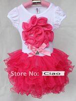 bebek tişörtlü dantel tutu toptan satış-Moda Dantel Elbise Kız Elbise Çocuklar Yaz Elbise Kız Parti Elbiseler Bebek Elbise Tutu Etekler Katmanlı Etek Çocuk Giyim Çocuk giyim