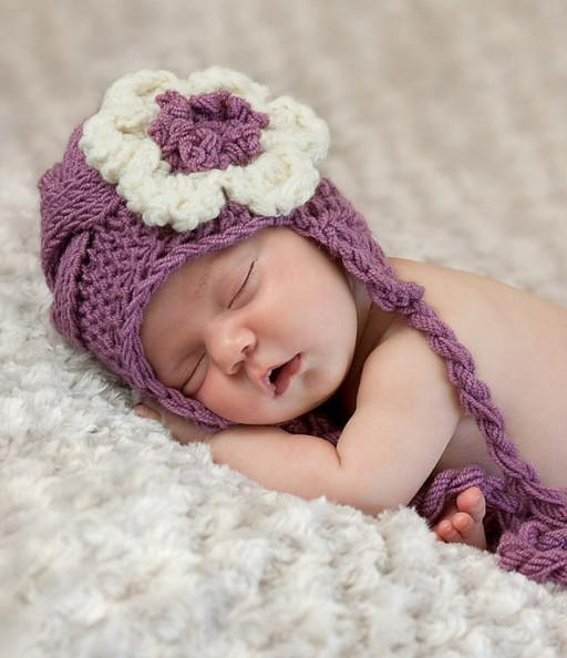 2019 Baby Crochet Hats Newborn Baby Girl Hat Knit Baby Hat With Flower  Photogryphy Props From Babyandmother 4078747f2016