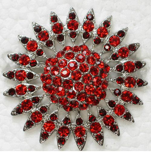 Wholesale Clear Crystal Rhinestone Brooches Wedding Bridesmaid Bride Flower Fashion Costume Pin Brooch party prom C194
