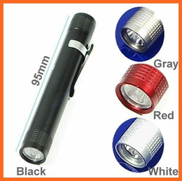 Wholesale Led Lumen Flashlight - 10pcs MXDL Portable Pocket Flashlight 100 Lumen LED Flashlight By 1*AAA Battery Waterproof Hiking Camping Fishing MIni Pen Torch
