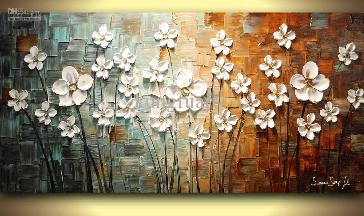 hand painted heavy textured framed oil painting wall art  - see larger image