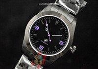 Wholesale Watch Pvd Movement - Men's Black Pvd Watch Fragment Perpetual Mechanical Movement Men Sea Dive Sport Sub Watches