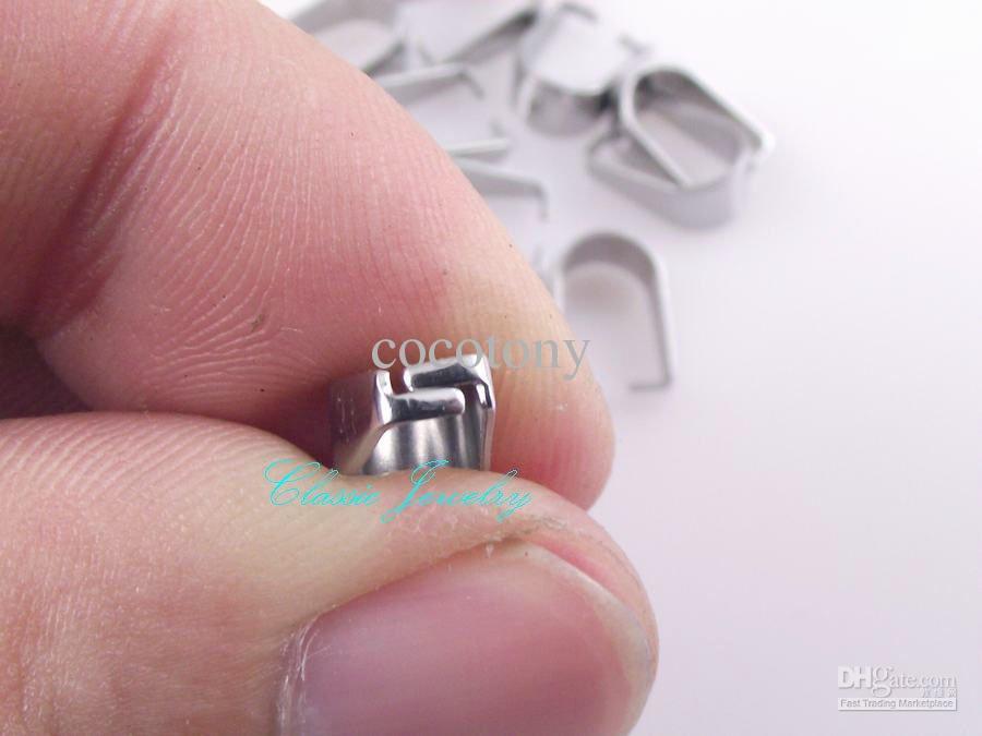 New Crisscross denti 4.8mm in acciaio inox gancio accessori fibbia ciondolo gioielli fai da te parti 300 pz