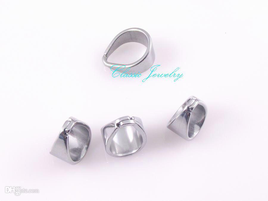 Nouveau croisillon dents 6.7mm en acier inoxydable crochet boucle pendentif accessoires bijoux pièces de bricolage