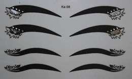 Eye Liner Temporairement Pas Cher-200Pairs Instant Eye Shadow Sticker 3D Fashinable Body Art Party Eye Liner Tatouages ​​Temporaires