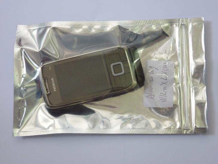 送料無料12 * 20cmジッパーロックアルミ製バッグパックジップトップ湿気プルーフバッグ