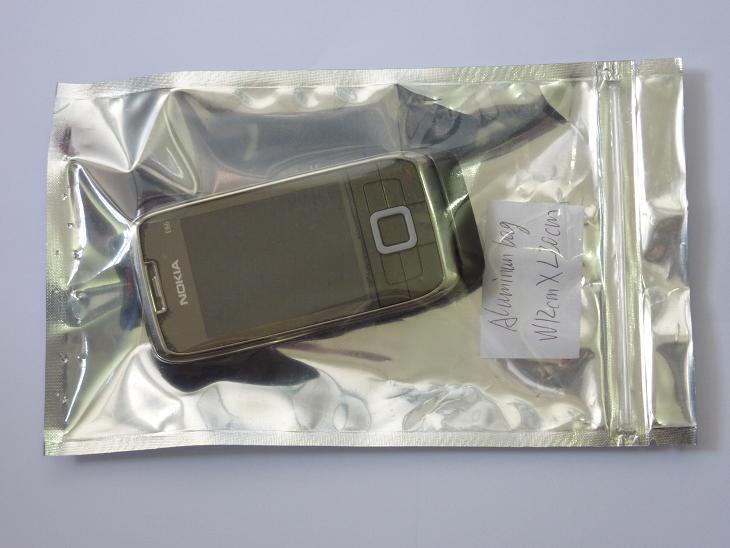 Gratis verzending 12 * 20 cm zip lock aluminium bag pack voor elektronische producten ZIP top vochtbestendige tas