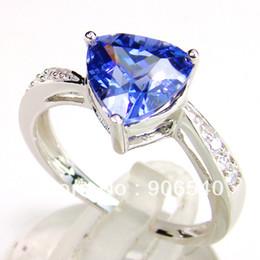 Wholesale Wholesale Tanzanite Rings - Wedding Bands Engagement Ring Tanzanite Topaz DR03009387R-2.8G Free Shipping