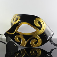 Wholesale Low Price Venetian Masks - Mens jazz Mask Halloween Masquerade Prince Masks Venetian Dance party half Face PVC Mask Lowest Price