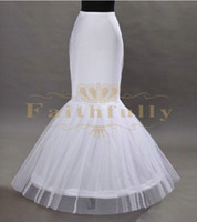 Wholesale Mermaid Petticoat Red - 2017 White Crinoline Petticoats Two Hoops Two Layers Underskirt For Mermaid Wedding Dresses Prom Gowns Cheap