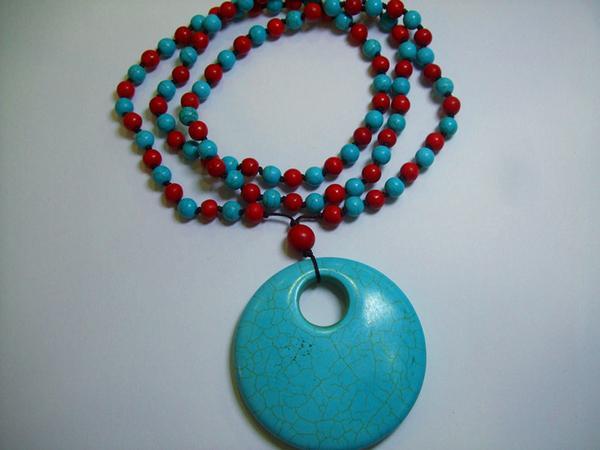neue mode türkis perle cham stil baumeln halskette charme style.NTS-014