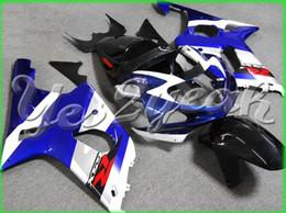 2019 zx14r carrinhos de abs Plástico de alta qualidade Para GSX-R1000 2000 2002 2002 GSXR 1000 GSXR1000 00-02 K2 Azul Branco Carenagem 10Z15