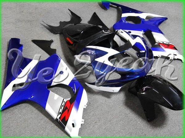 Plastique de haute qualité pour GSX-R1000 2000 2001 2002 GSXR 1000 GSXR1000 00-02 K2 Blue White Fairing 10Z15