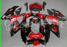 Kit carenados para GSX-R1000 2007 2008 GSXR1000 07 08 GSXR 1000 K7 LUCKY STRIKE Rojo Negro Carenado ZS70