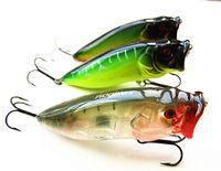 Wholesale baits floating vmc hook for sale - Group buy Popper Bait Fishing Lure hard plastic baits VMC hook floating type seven colors g cm