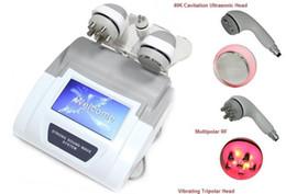 Discount cavitation screen - Powerful Cavitation machine tripolar Hexpolar Radio Frequency Salon Equipment big color touch screen