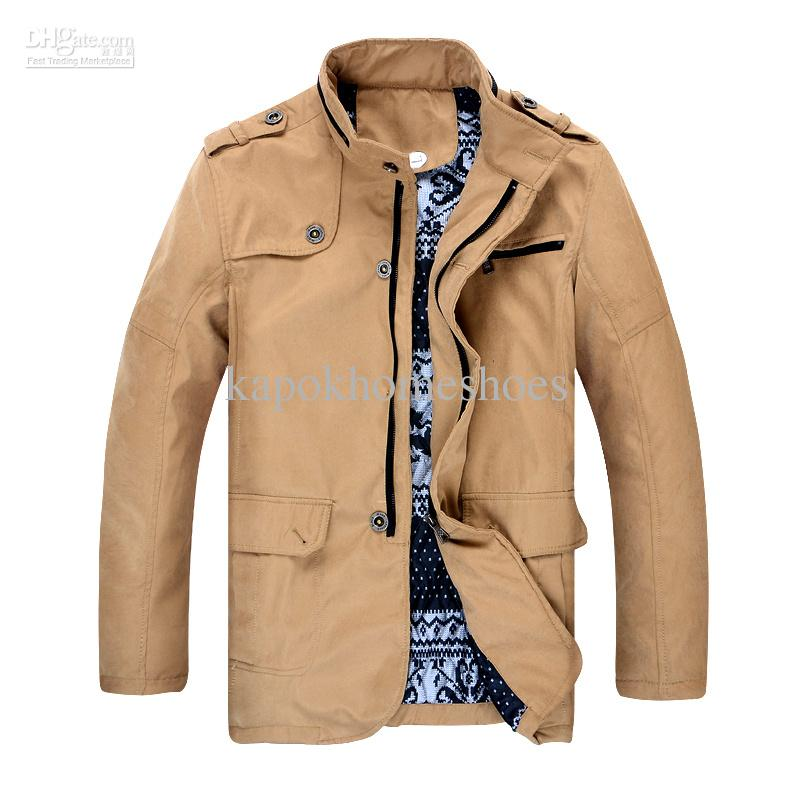 2012 New Fashion 227 Mens Winter Coat Jackets Thicker Cotton ...