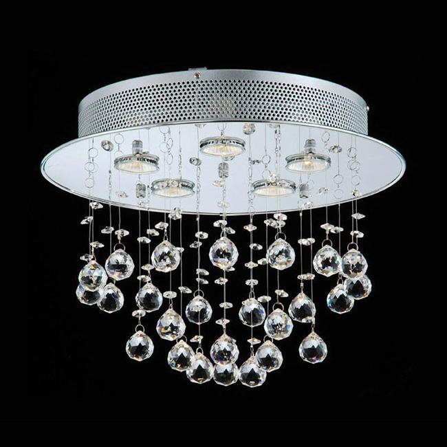 Diâmetro do teto do candelabro de cristal 13in