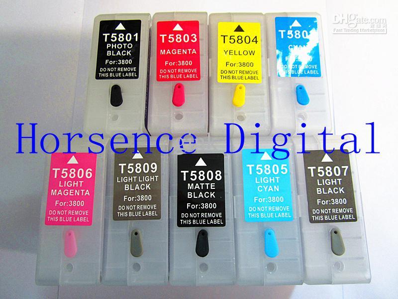 Compre Cartuchos De Tinta Recargables T5801series Para La Impresora Epson Stylus Pro 3800 Pro 3880 Con Chip Resetter A 48 91 Del Gink Es Dhgate Com