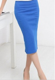 Wholesale Tight Stretch Dresses - 2017 hot sales fashion Lady High stretch tight Tee Dress bottoming skirt package hip skirt dress chest wrapped skirt 5pcs