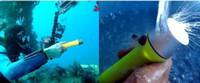 linterna de buceo led q5 al por mayor-Antorcha 60 m Submarino 240 LM CREE Q5 LED Buceo linterna impermeable Buceo