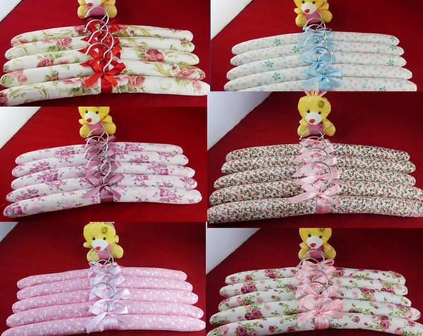 TOP 100 pcs Satin Padded Coat Clothes Hook Hangers New W/ Ribbon for CHILDRENS Dresses COATS KIDS