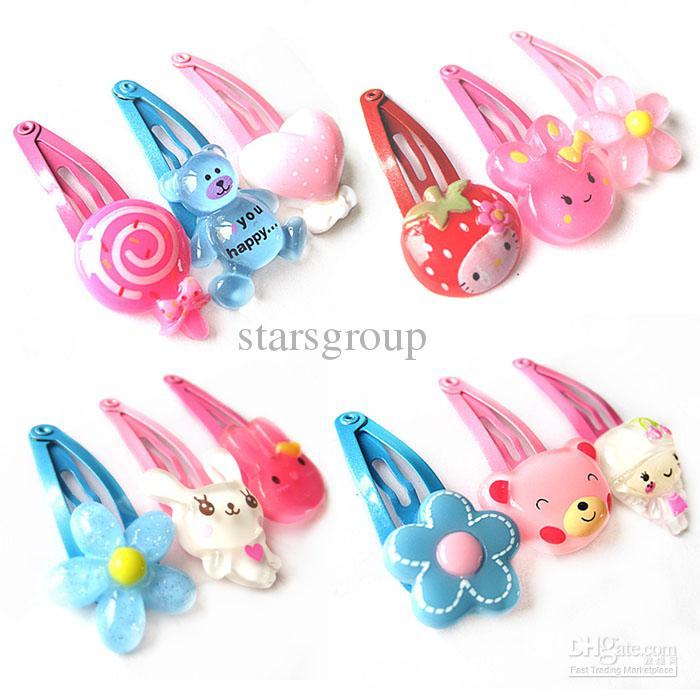 Children Baby Girl Hair Clips Metal Clip Plastic Animal ...