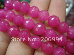"""Wholesale Gemstones 8mm Faceted - Wholesale Graceful 8mm Faceted Red Rose Round Gemstone Beads 15"""" 2pcs lot fashion jewelry"""