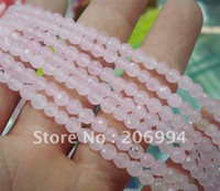 """Wholesale Jade Small Beads - Wholesale 4mm pink jade globose faceted Small Loose Beads 15"""" 2pc lot fashion jewelry"""