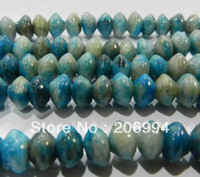 """Wholesale Rondelle Beads Blue Wholesale - free shipping new arrive 5x8mm larimar blue crazy lace agate rondelle beads 15"""" 2pc lot fashion jewelry"""