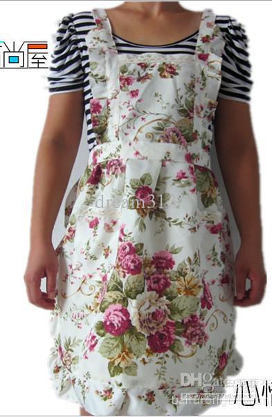 18st New Home Kök Förkläde Pastoral Style Craft Commercial Restaurant Kitchen Förkläden Pinafore