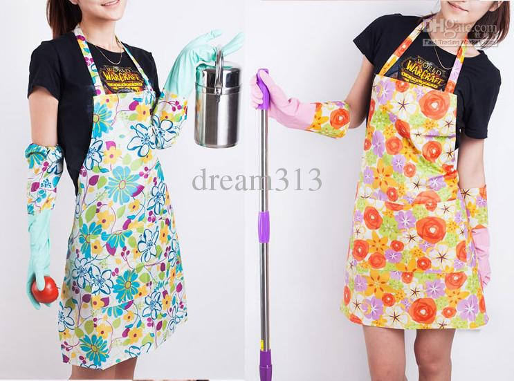 Restaurant Kitchen Aprons pvc home kitchen apron pastoral style craft commercial restaurant