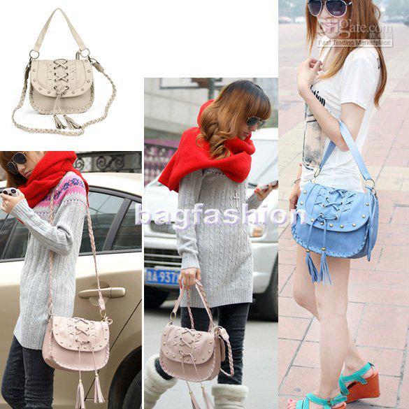 6e7d3fd2231b Mutlti Style Pretty Lady Handbag Woman Tassels Woven Bag Leather Shoulder  Bag College Bags Girls 704 Mens Shoulder Bags Shoulder Bags For Men From  Sara2013