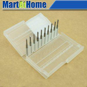 best selling 10 x Carbide PCB CNC Engraving Bits End Milling Cutter - 2mm Diameter #SM391 @CF