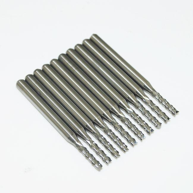10 x Hartmetall PCB CNC Gravur Bits Ende Fräser - 2mm Durchmesser # SM391 @ CF