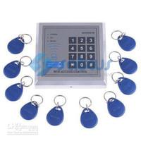 système de contrôle de porte de proximité rfid achat en gros de-Vente en gros - Système de contrôle d'accès de serrure de porte d'entrée de proximité RFID AD2000-M avec 10 porte-clés