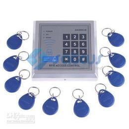 Блокировка входа rfid онлайн-Оптовая продажа-RFID бесконтактный входной замок двери система контроля доступа AD2000-M с 10 брелками