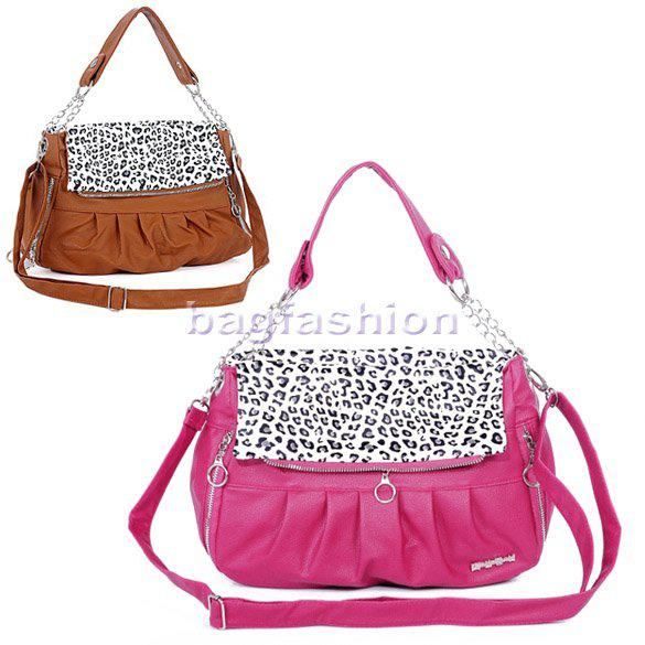 Women's Girls Fashion Shopping Bag Elegant Leopard Print Pu ...