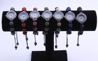 Wholesale Crystal Ball Bracelet Watch - New Fashion Bracelet shamballa Watches Crystal Disco Ball you could choice different color 5pcs