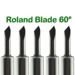 Toptan satış Yeni 50 Adet / grup ROLAND Vinil Kesici Plotter bıçakları 60 derece # SM483 @ SD