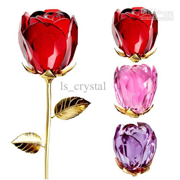 New lindo Crystal Rose Flower 12