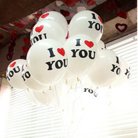 Wholesale Lantern Favors - 50 Pcs - I Love You Round - Shape Latex Balloons Wedding Favors Party Decoration Balloon