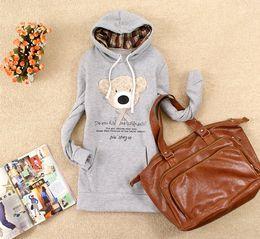 Wholesale White Hoodie Cute Bear - 1Piece Free Shipping,Hoodie Cute Teddy Bear,Hoodie Long Top Pullover,Women's Sweatshirts ,6 Color,Fr