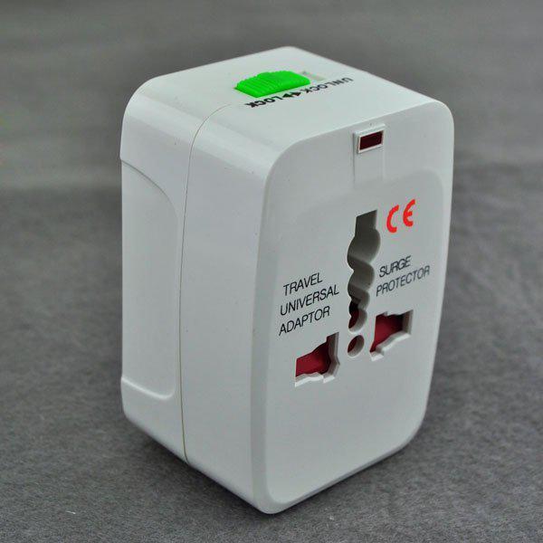 top popular All in One Universal Power Adaptor International Plug Jack World Wide AC Travel Converter Adapter EU UK US AU 2021