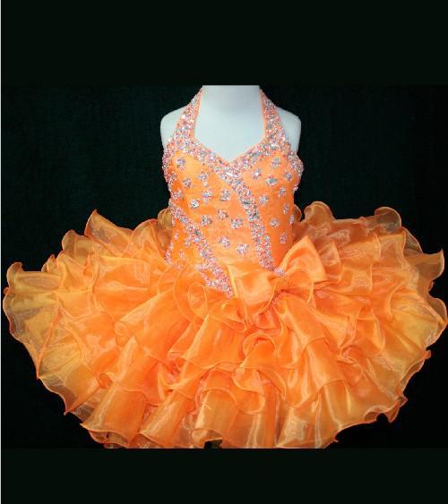 Mooie jurk kant kralen meisjes pageant en dagelijkse festival jurk