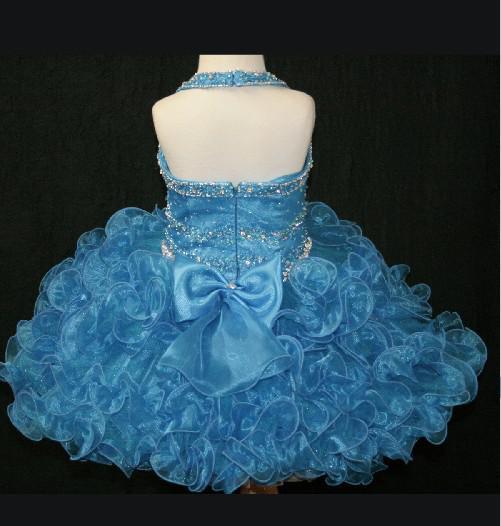 De nieuwste versie van een schouder geplooide rok Pageant jurk mooi meisje nieuwe stijl