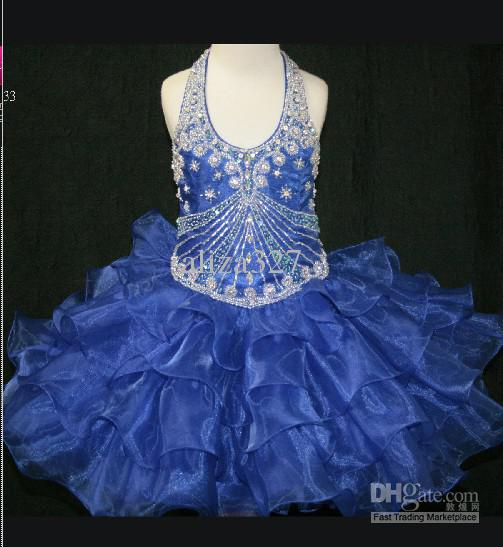 Vacker födelsedag Girl Dress Scoop Neckline Tiered Skirt Pageant Gown Little Rosie