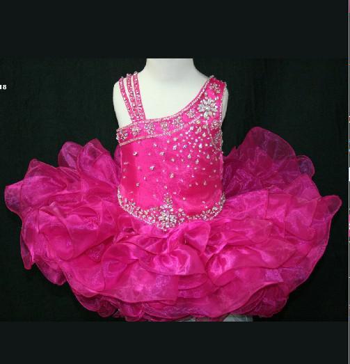 Härlig födelsedagsfest klänning kort liten rosie girls pageant klänning