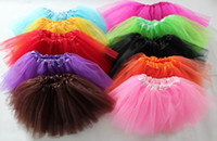 Wholesale Mixed Tutu - Free Shipping 10pcs 3 Layers Baby Tutus Skirt Tutu Dress 18 Colors Can Mixed All Colors