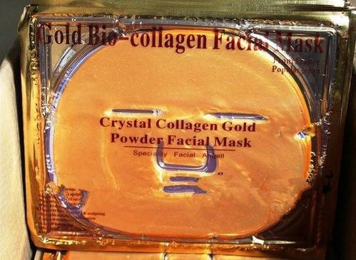 Innehåller Hylauronsyra-24K guld hydrolyserad silke kollagen gel ansiktsmask